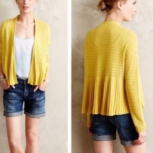 ANTHROPOLOGIE MOTH OPEN CARDIGAN